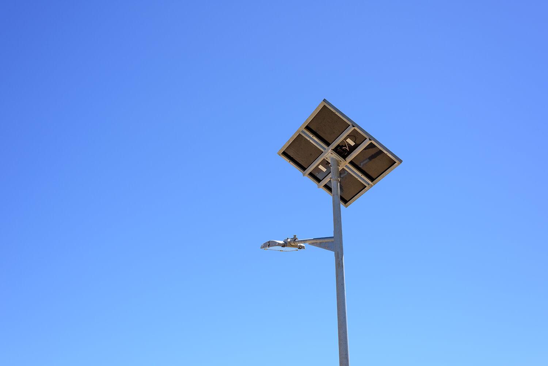 Alumbrado público con energía solar 1