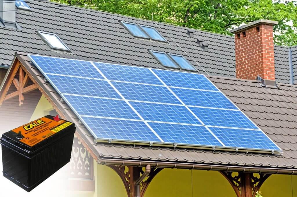 batería ciclo profundo para energía solar en casa